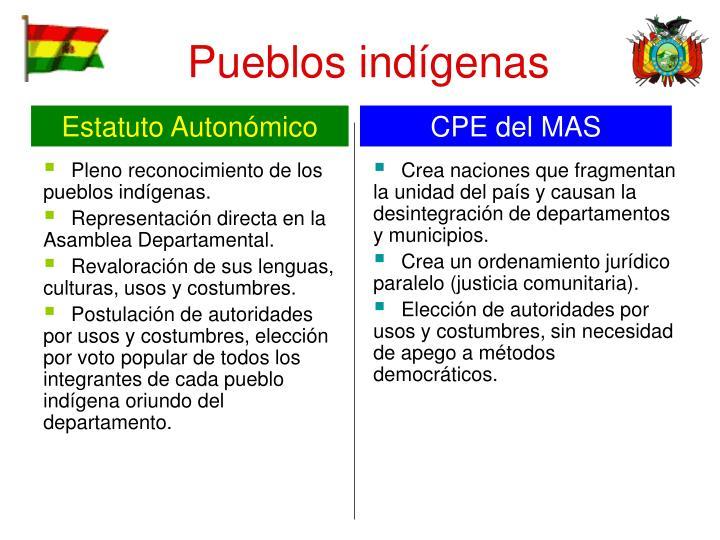 Pleno reconocimiento de los pueblos indígenas.