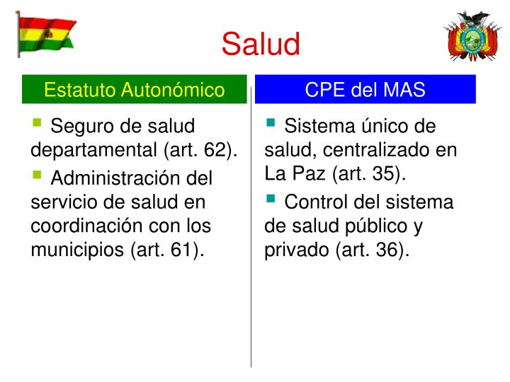 Seguro de salud departamental (art. 62).