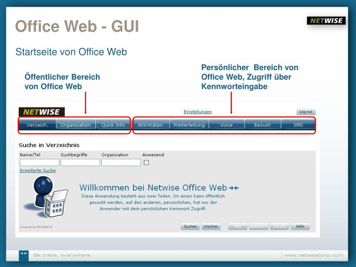 Office web gui