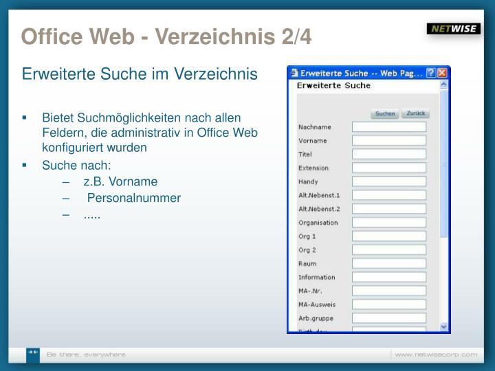 Office Web - Verzeichnis 2/4