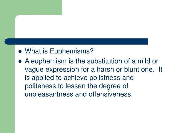What is Euphemisms?