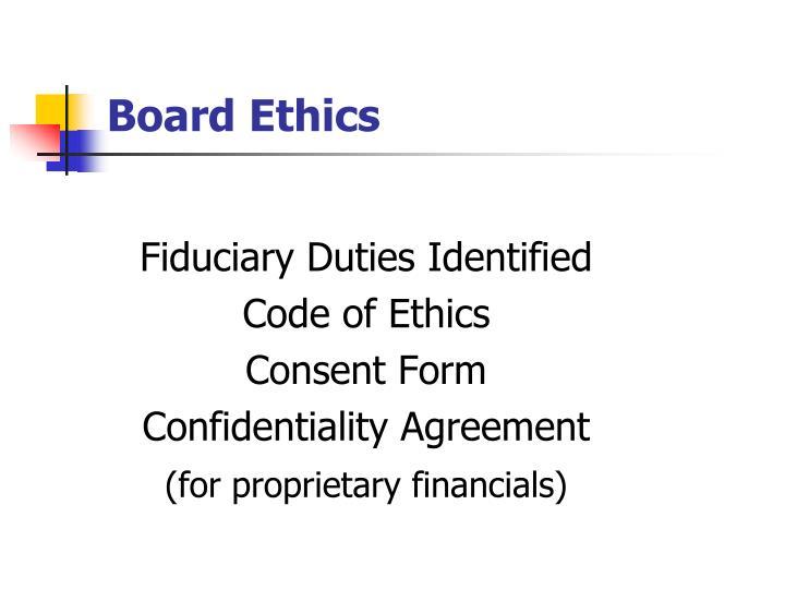 Board Ethics