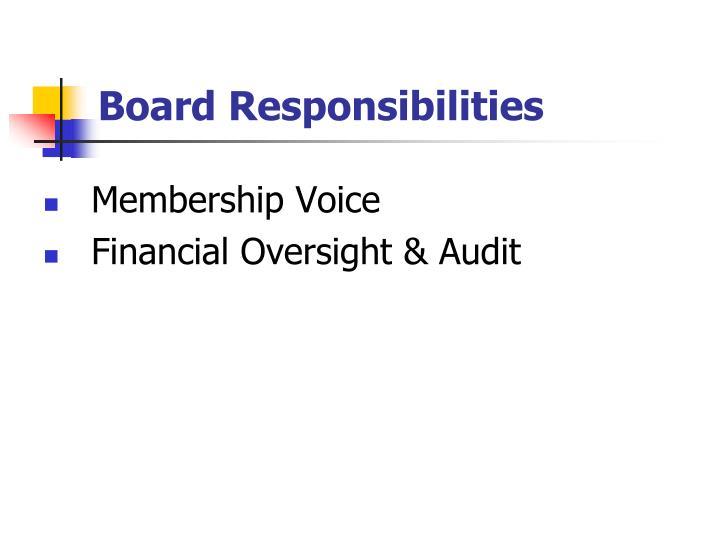 Board Responsibilities