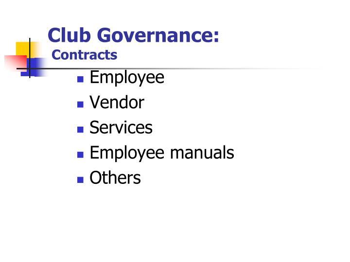 Club Governance: