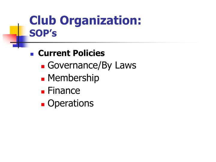 Club Organization: