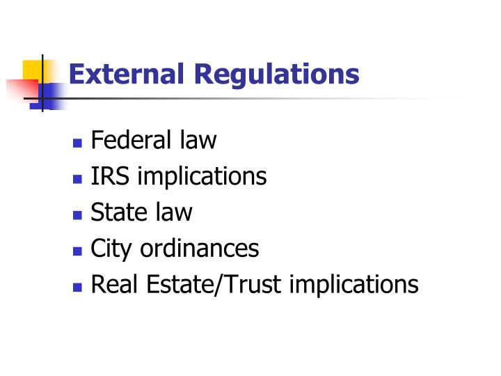 External Regulations