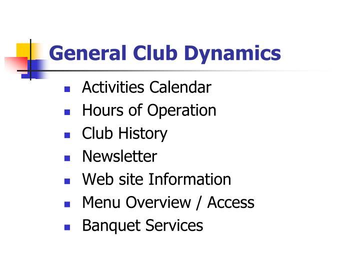 General Club Dynamics