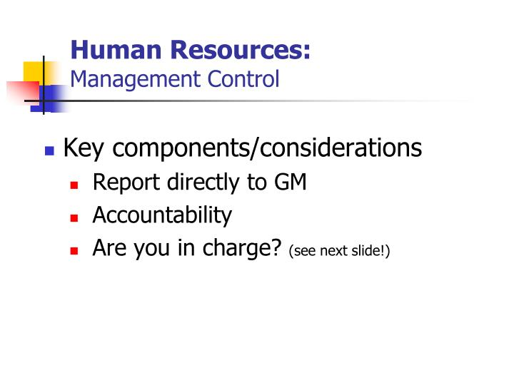 Human Resources:
