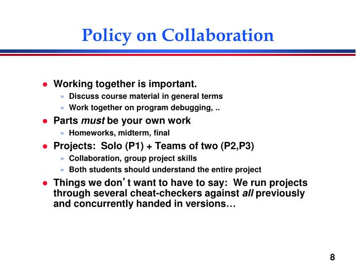 Policy on Collaboration