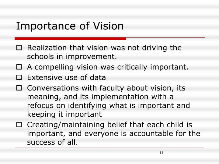 Importance of Vision