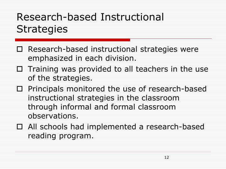 Research-based Instructional Strategies