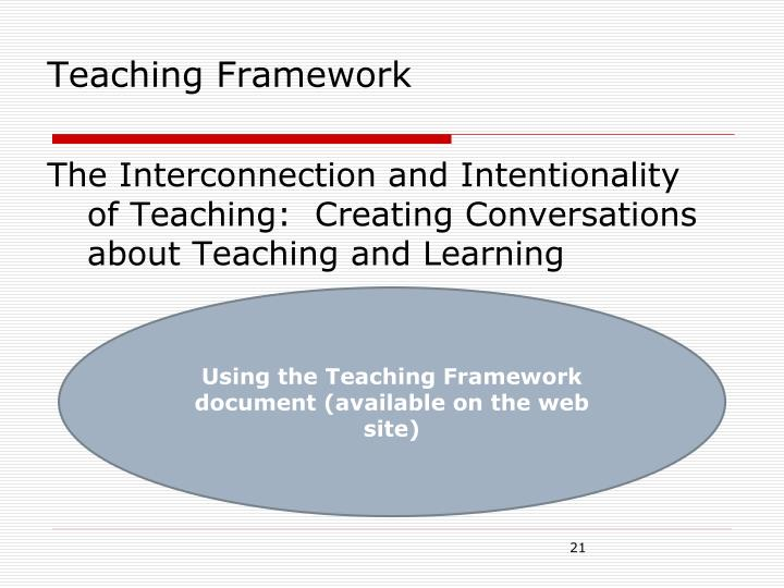 Teaching Framework