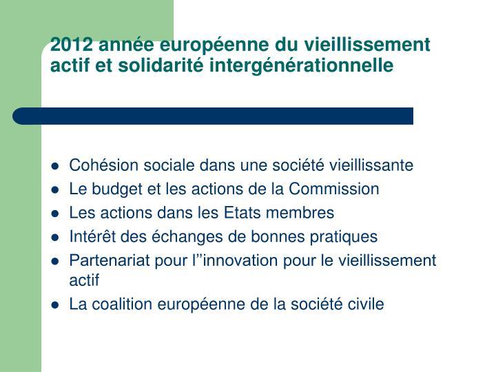 2012 année européenne du vieillissement actif et solidarité intergénérationnelle