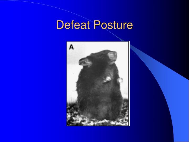 Defeat Posture