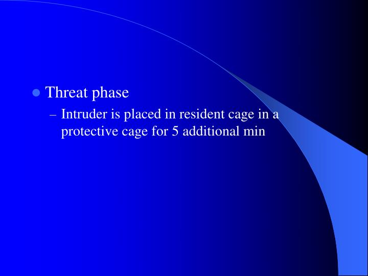 Threat phase