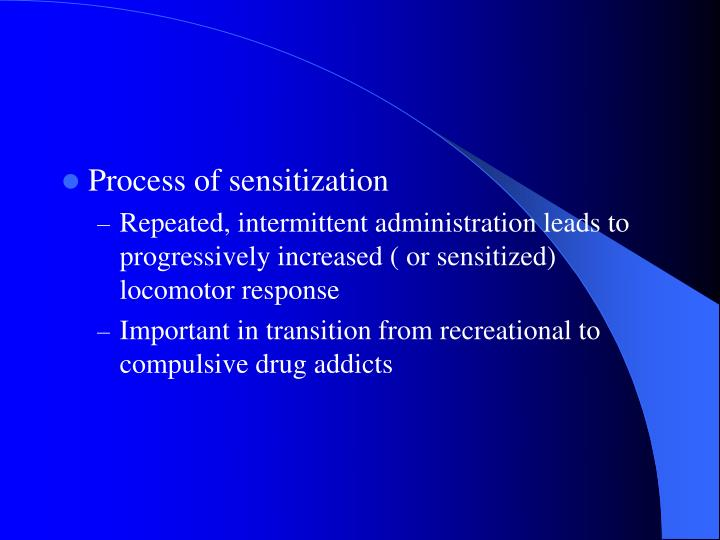Process of sensitization