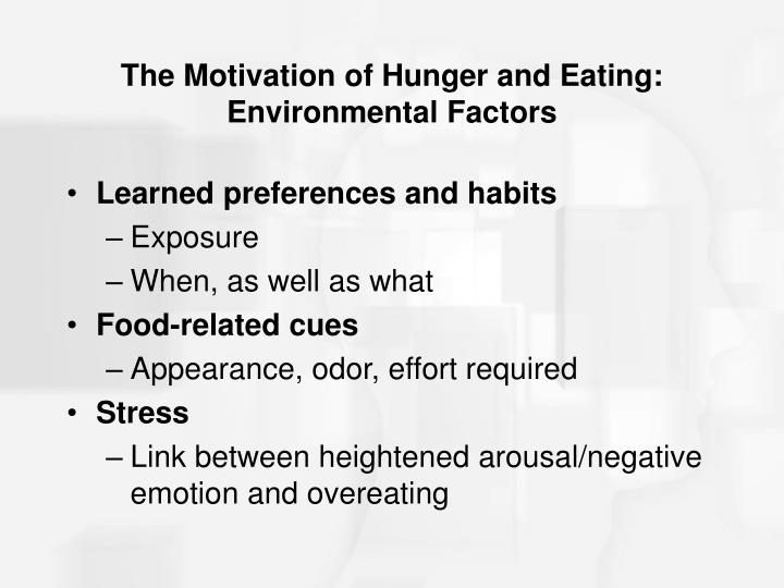 The Motivation of Hunger and Eating: Environmental Factors