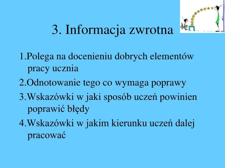 3. Informacja zwrotna