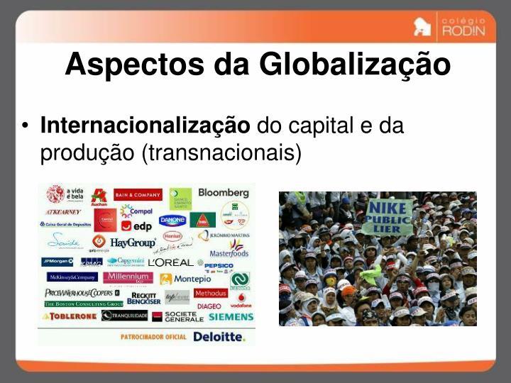 Aspectos da Globalização
