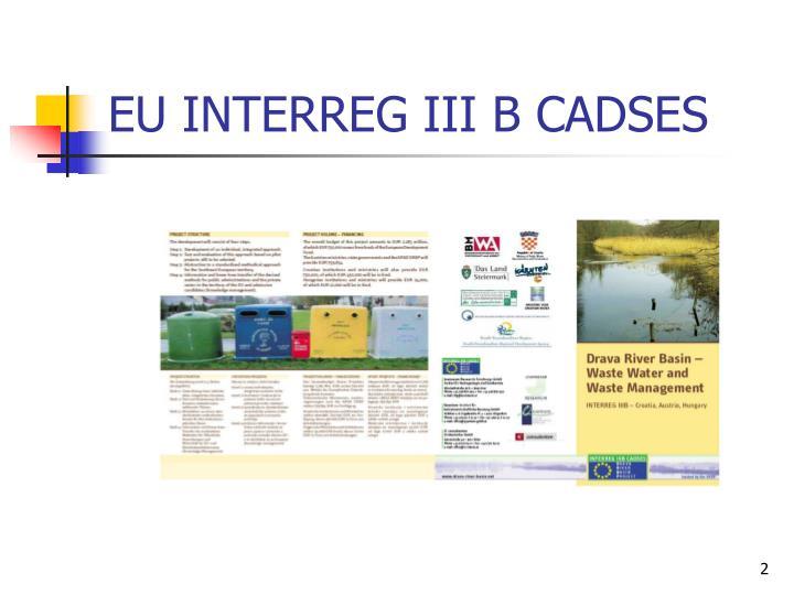 EU INTERREG III B CADSES