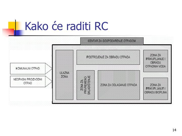 Kako će raditi RC