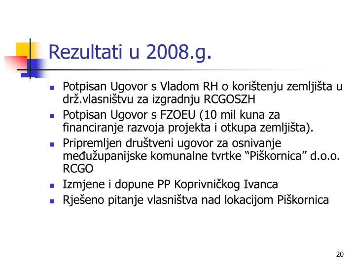 Rezultati u 2008.g