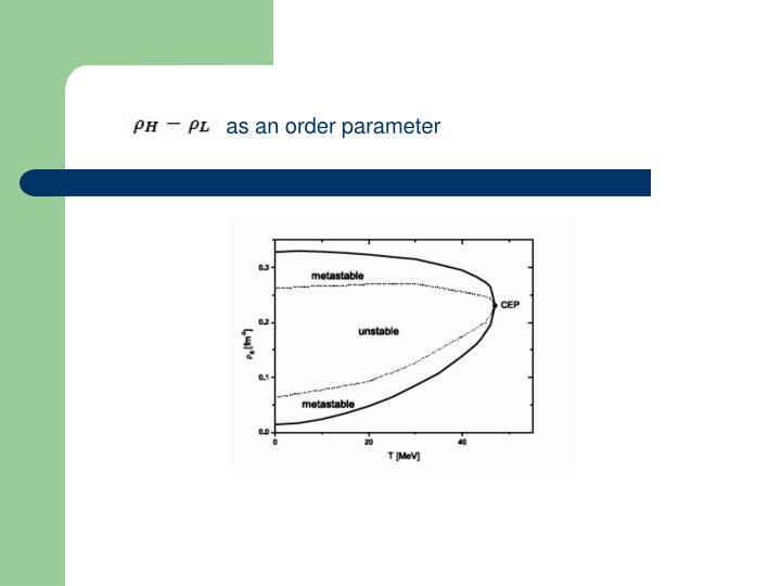 as an order parameter