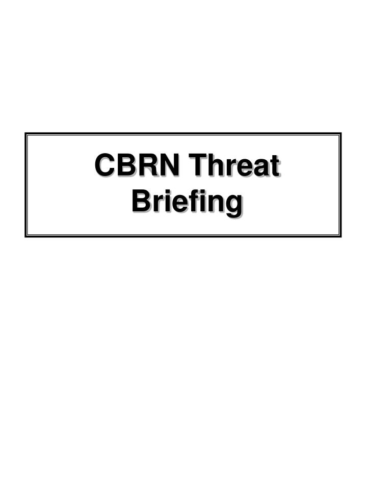 CBRN Threat