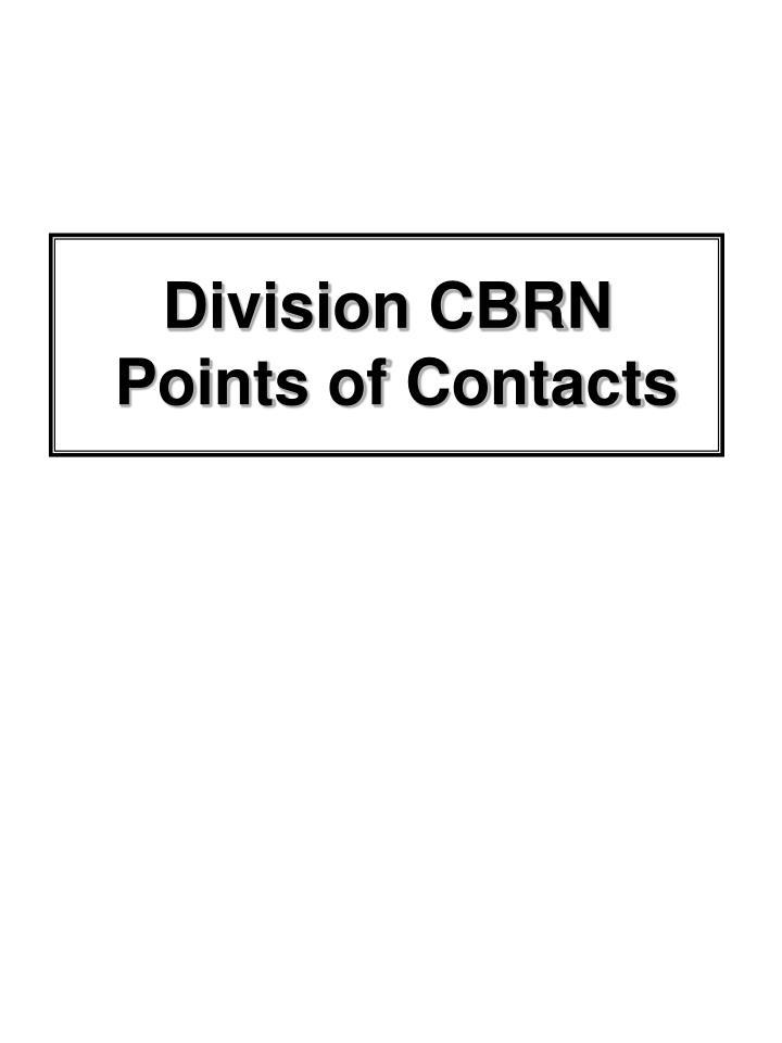 Division CBRN