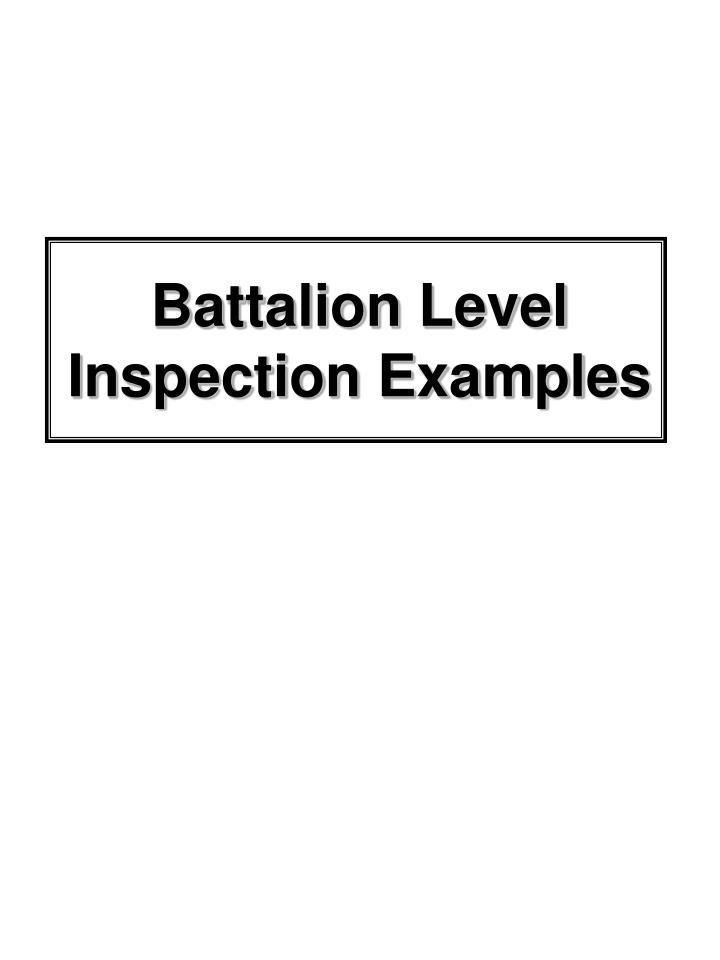 Battalion Level