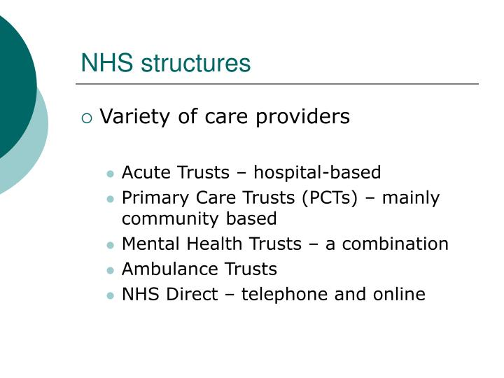 NHS structures