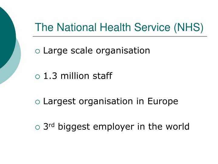 The national health service nhs