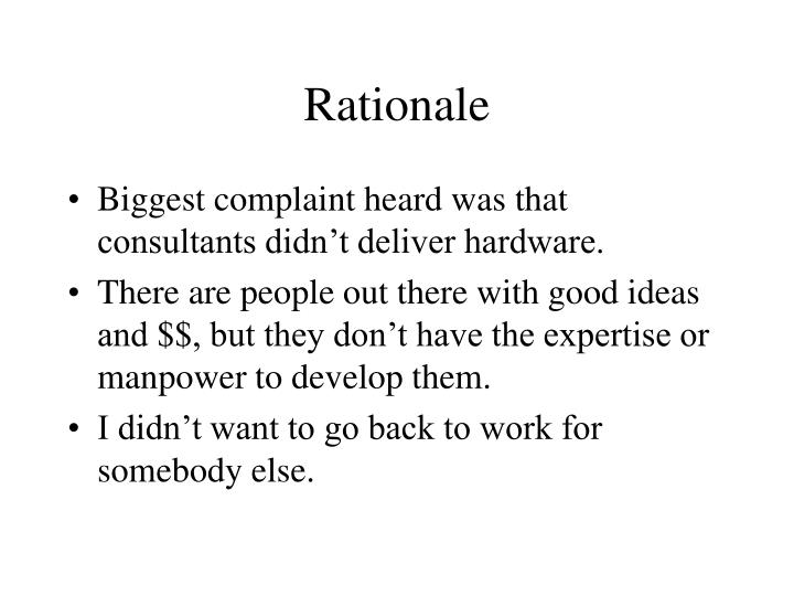Rationale