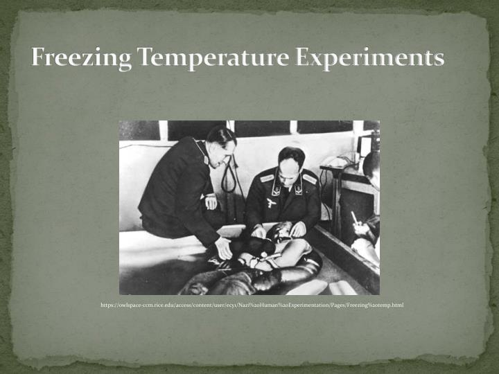 Freezing Temperature Experiments