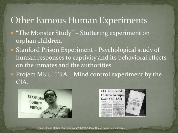 Other Famous Human Experiments
