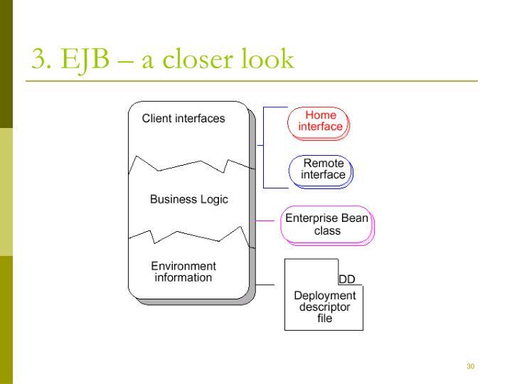 3. EJB – a closer look