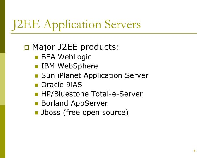 J2EE Application Servers