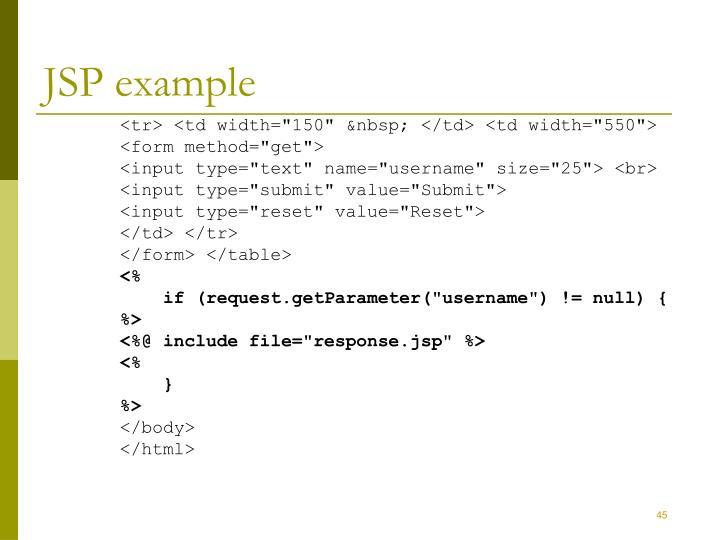 JSP example