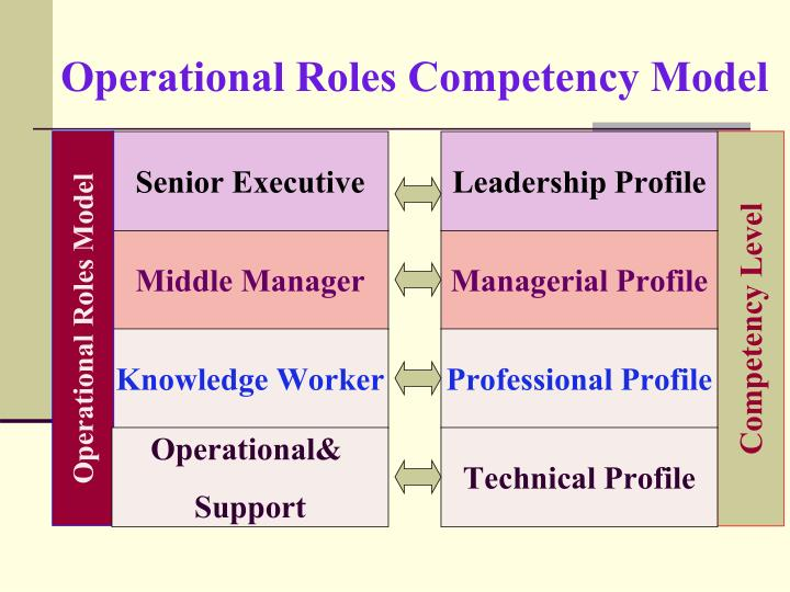 Operational Roles Competency Model