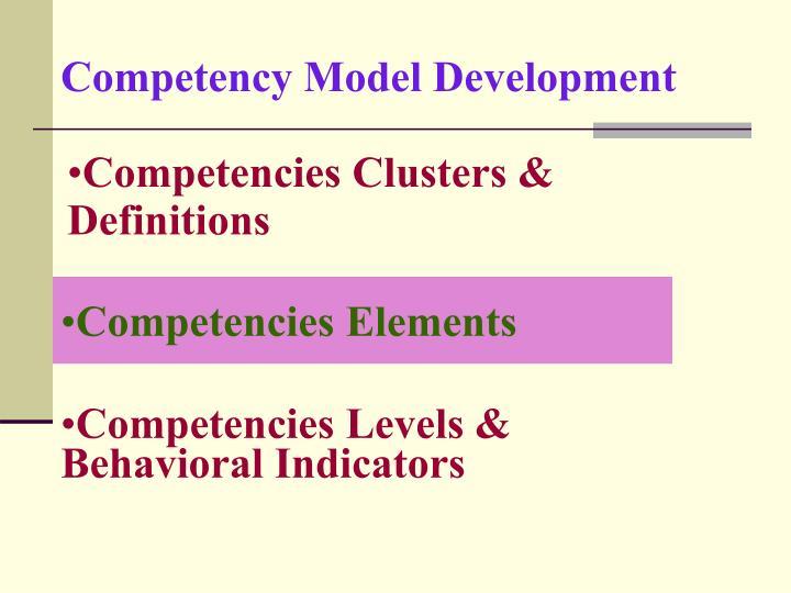 Competency Model Development