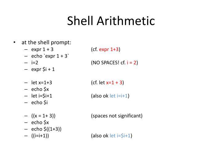 Shell Arithmetic
