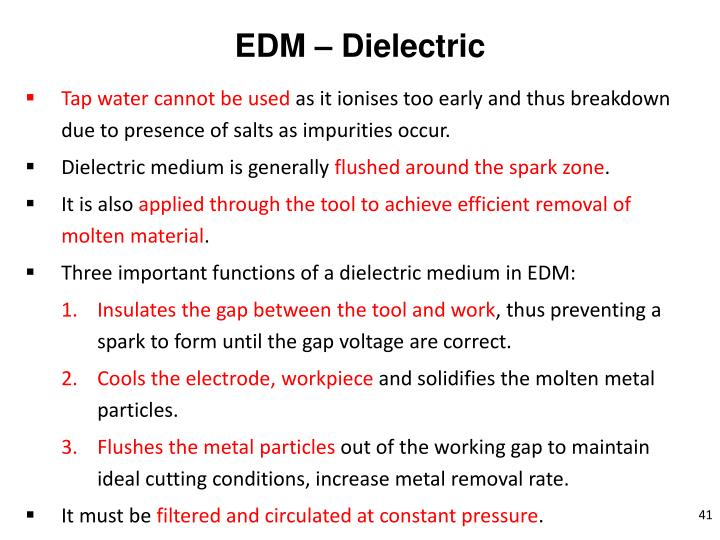 EDM – Dielectric