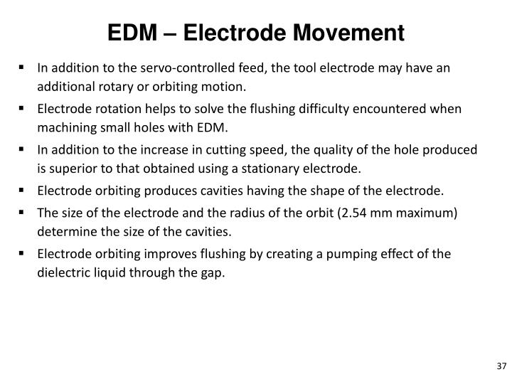 EDM – Electrode Movement