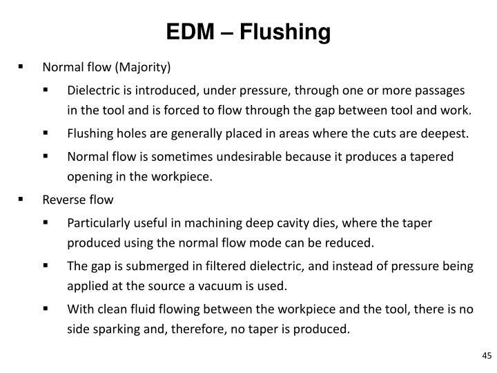 EDM – Flushing
