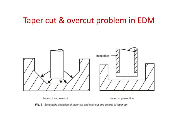 Taper cut & overcut problem in EDM
