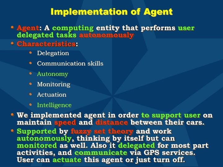 Implementation of Agent