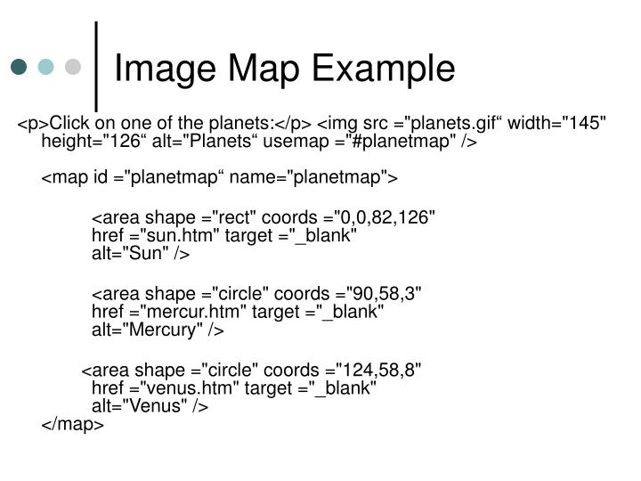Image Map Example