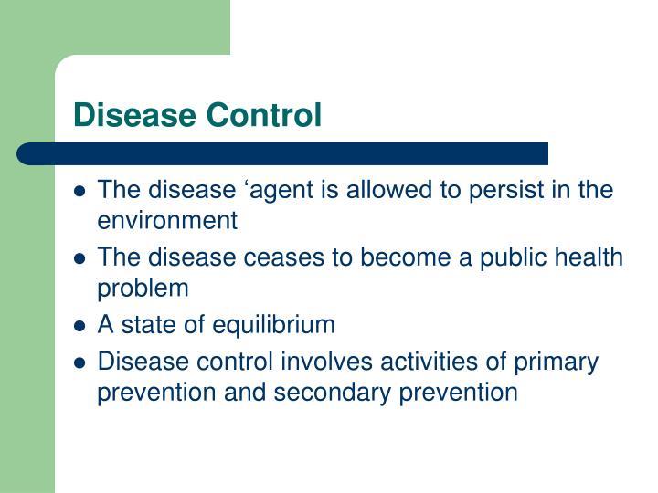Disease Control
