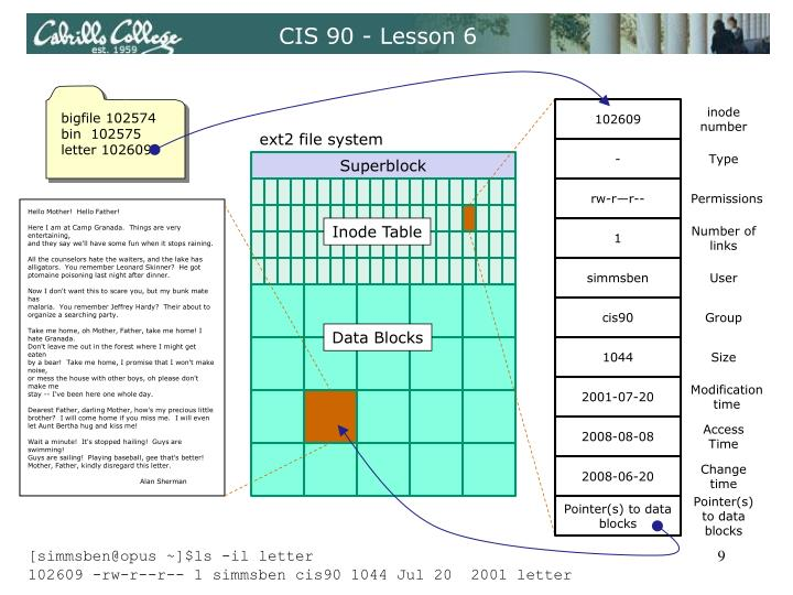 CIS 90 - Lesson 6