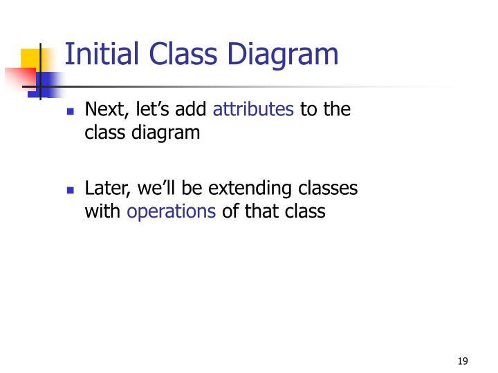 Initial Class Diagram